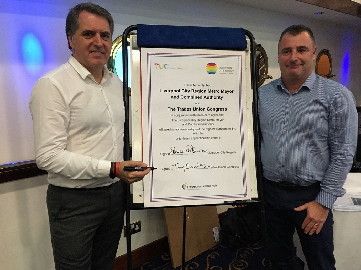 Sign up for skills - Steve Rotheram and Tony Saunders
