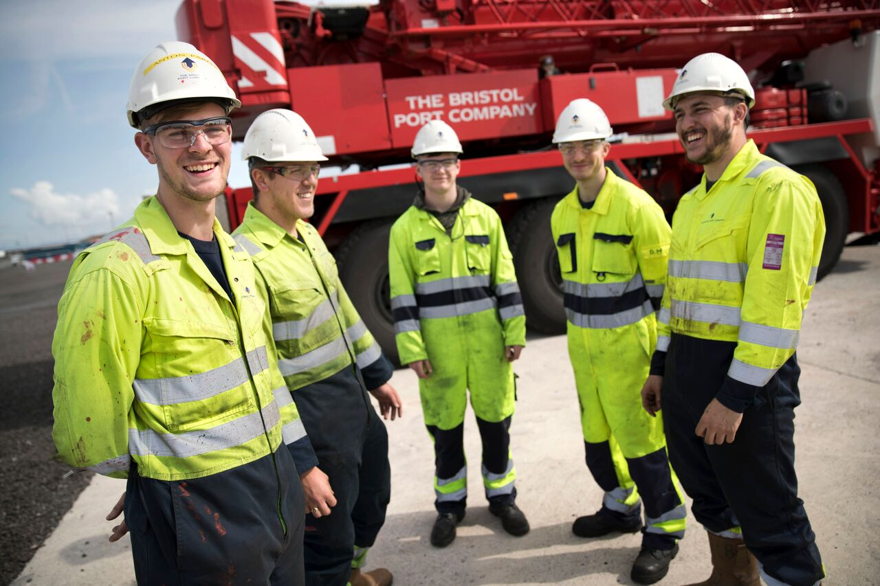 Apprentices benefiting from a high quality scheme at Bristol Port