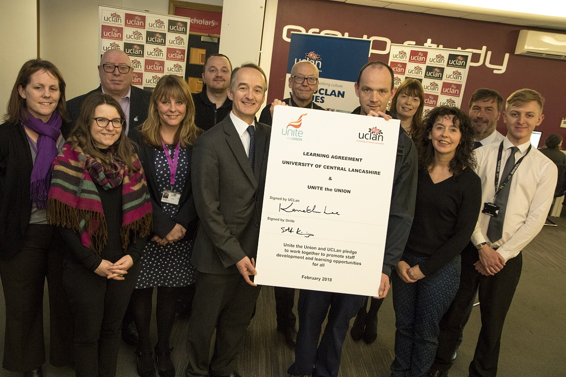 UNite and UCLan learning agreement
