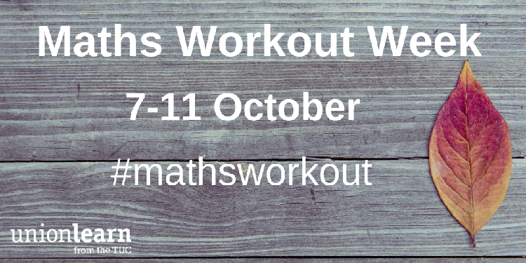 maths workout week banner