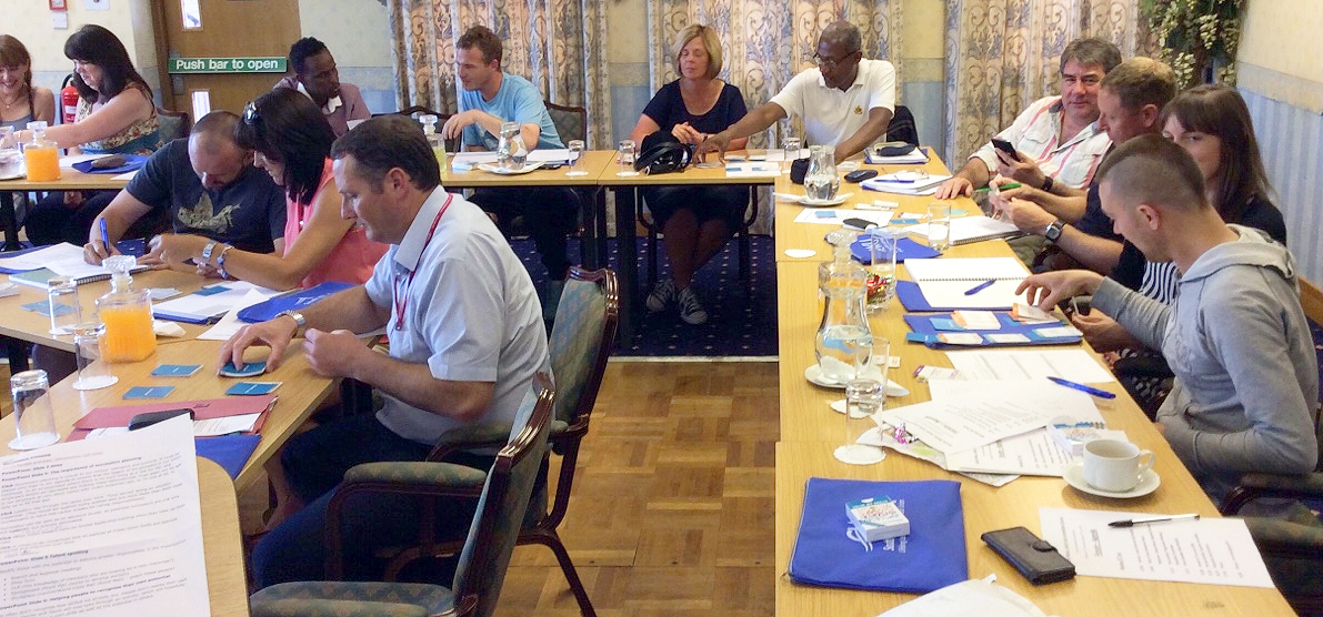 CWU learners use the Value My Skills cards at training event ©Private
