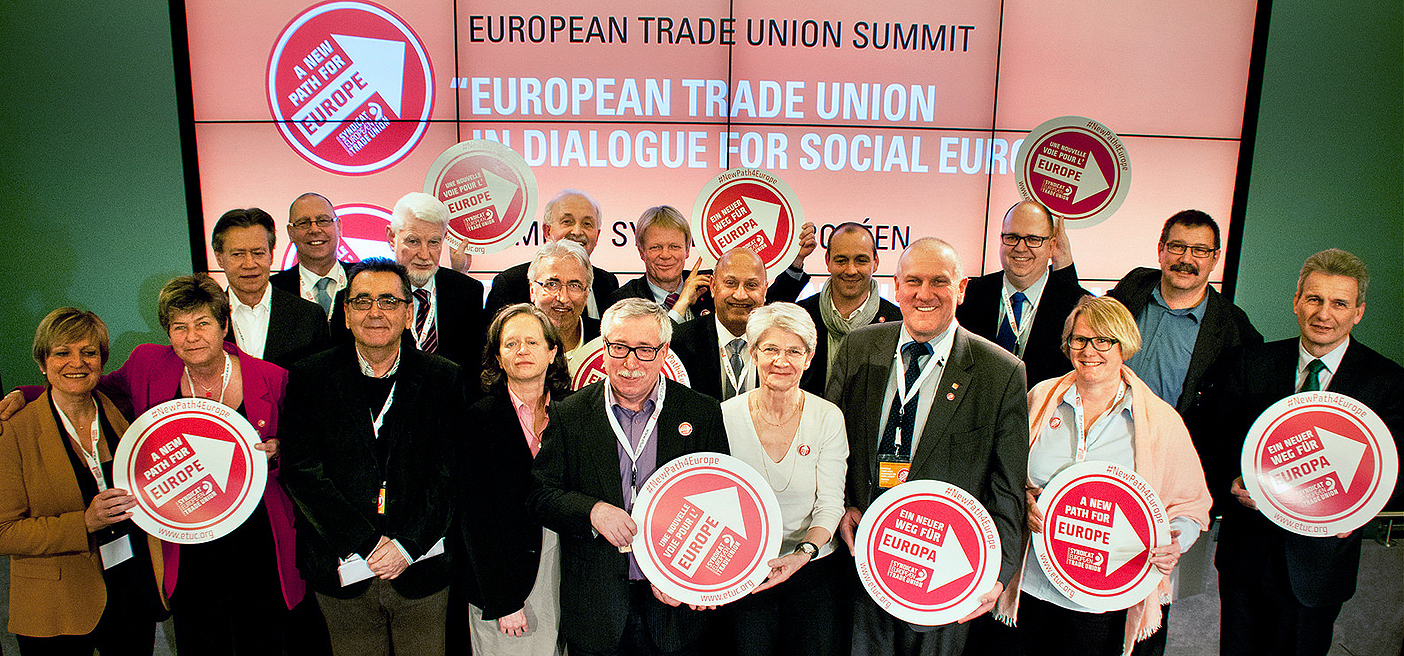 Trade union leaders at the European Trade Union Summit 2014 ©ETUC-CES